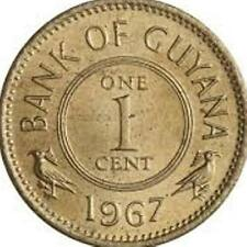 Guyana 1 Cent Coins 1960 - 2014 South America
