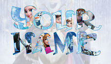 Personalised Kids Disney Frozen Elsa Ola Name Wall decal stickers *3 SIZES* Deco