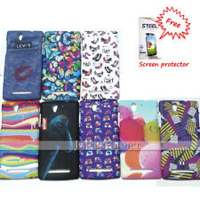 Stylish Printed Rubber Back case Cover for Sony Xperia C3 + Free Screen guard