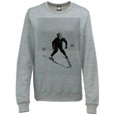 VINTAGE DOWNHILL SKIER WOMENS RETRO PHOTO PRINT SKI SEASON SWEATSHIRT JUMPER