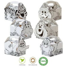 Jungle Animal Colouring In Boxes ~ Childrens Fun Party Food Snack Meal Box