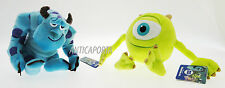 Peluche Monsters & Co. Disney Pixar Originali 30 cm Velluto Soft Sulley e Mike