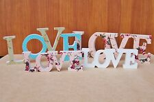 Wooden LOVE Letter Decoration Shabby Chic Sign Word Blocks Free Standing