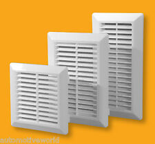 Air Vent Grille Ducting Ventilation Cover External and Internal White Brown Grid