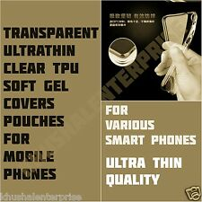 Ultra Thin Clear TPU Soft Gel Transparent Cases Covers Pouches For Mobile Phones