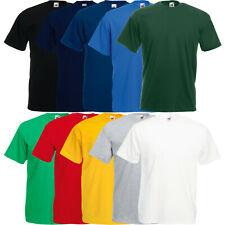5x FRUIT OF THE LOOM T-SHIRT VALUEWEIGHT HERREN SHIRT - S M L XL XXL 3XL 4XL 5XL