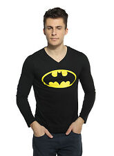 Batman T-shirt V-Neck Full Sleeve Black Color