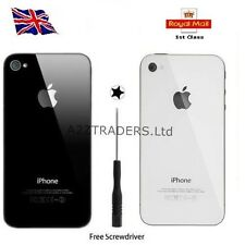 New Back Glass Replacement for Apple iPhone 4 & 4S Rear Battery Cover in 5 Style