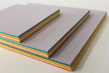 ORIGAMI PAPER. SMOOTH 80gsm 100 DOUBLE SIDED ASSORTED COLOURED SHEETS IN 3 SIZES