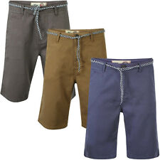 Tokyo Laundry Mens Designer Kendall Smart Casual Chino Shorts With Free Belt
