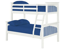 TRIO BUNK BED WHITE SOLID PINE DOUBLE + SINGLE OR SINGLE + SINGLE HIGH QUALITY