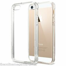 Transparent Soft+Hard Hybrid Back Case,Cover,Pouch for Apple Iphone 4,4s,5,5s