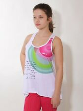 -30% Desigual Sport Top, S, M Fitness Top, Trainings Shirt weiß/bunt, neu