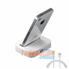 Base de carga soporte DOCK + cable datos iPhone 5 6 plus sincronizacion cargador