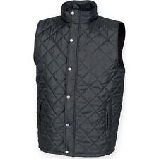 Mens Diamond Quilt Quilted Padded Gilet Shower Proof Body Warmer Jacket Top