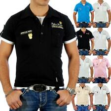 RUSTY NEAL FASHION HEMD POLO T-SHIRT 2IN1 LAYER STYLE POLO V-NECK SHIRT RN-301