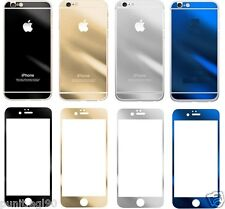 MobiKarePro™ Mirror Effect Tempered Glass Screen Protector for iPhone 4 5 6 Plus