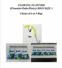 FLOWING FLATFISH SEA FISHING (Flounder/Dabs/Plaice) RIGS SIZE 1/0