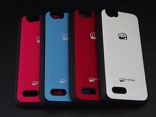 Dual Tone Soft Side Rubber Hard Back Cover Case For Micromax Bolt A40