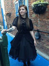 Whitby-Gothic-Cosplay-LARP-Comicon-Bra Area-GOTH LOLITA DOLL LACE BLACK DRESS