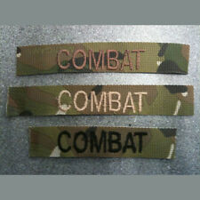 CUSTOM OFFICIAL MILITARY NAME TAPE BADGE, ZAP NUMBER VELCRO BACKING- SET OF 3