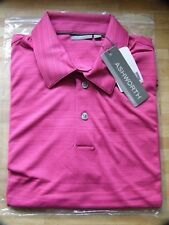 Ashworth Golf Men's Self  Striped Polo Shirts Large 42/44 in 14 Colours AM3090