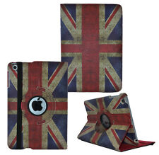 360° Rotating Vintage Retro Leather Folio Case Cover For Apple iPad 2 3 & 4 UK