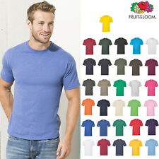 Lightweight T-Shirt - Fruit of the Loom Plain Cotton T-shirt S-5XL Men/Women