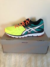 MENS ASICS GEL ZARACA 3 FLASH YELLOW/SILVER/FLASH ORANGE RUNNING SHOES TRAINERS