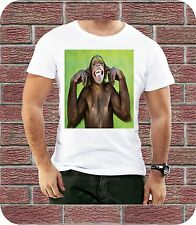 Monkey Fingers In The Ears Comic Men T shirt Animal Casual Summer Design Present