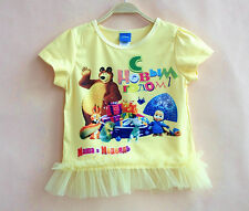 Masha e Orso Maglia bambina T-shirt Short Sleeves Masha and the Bear 08080102