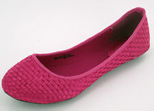 Ladies F8766 Pink weave Effect slip on Dolly shoes   by SPOT ON   £9.99