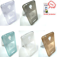 Transparent Back Cover case for Micromax Canvas Spark Q380 + Free screen Guard