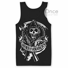 Official Licensed SONS OF ANARCHY REAPER LOGO Vest Tank Top T-Shirt