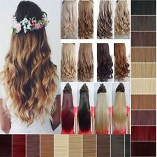 Real Cheap Thick Long Straight Curly Wavy Half Full Head Clip In Hair Extension
