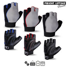 Fitness Gym Crossfit Workout Weight Lifting Leather Body Building Gloves