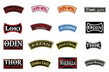 Banner Sew On Patch/Patches NEW OFFICIAL. DEATH METAL,LOKI,ODIN, THOR plus more