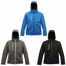 New Mens Regatta Durable Wind Resistant 3 Layered Softshell Jackets Size S-3XL