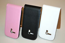 Black Genuine Real Leather Classic Flip Case Cover for Samsung Galaxy S3/S3 Mini