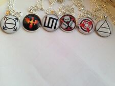30 seconds to Mars 30STM Silver Necklaces Triad Provehito Glyph Orbis Mithra