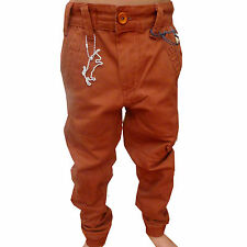 SALE ITEM WAS £40.00 ETO EB270 Cobblestone Boys Cuff Twisted Chino Jeans Kids