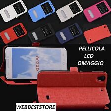 FLIP COVER CUSTODIA STAND FINESTRA S-VIEW X HUAWEI ASCEND G620 G620s + PELLICOLA