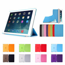 Slim Smart Magnetic Leather+Back Plastic Cover For Apple iPad 2/3/4 Mini Air 1,2