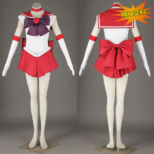 Sailor Moon Sailormoon Mars Red Uniform Costume Cosplay Dress Anime Manga