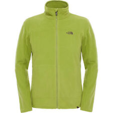 North Face 100 Glacier Full Zip Mens Jacket Fleece - Grip Green All Sizes