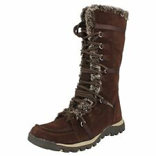 DAMEN SKECHERS BRAUN WILDLEDER WINTERSTIEFEL - GRAND JAMS UNLIMITED CC