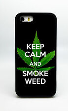 NEW KEEP CALM AND SMOKE WEED PHONE CASE COVER FOR IPHONE X 8 PLUS 7 6S PLUS 5S/C