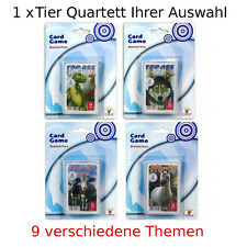 1 x TOP ASS Animaux Quartett : Chevaux Dinosaures Chats Chiens Animaux Sauvages