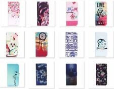 FLIP WALLET PU LEATHER CASE COVER CARD HOLDER WITH STAND FOR VARIOUS PHONES
