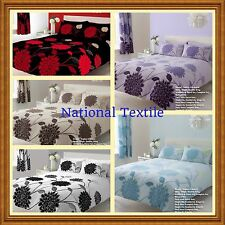 Sophia Printed Duvet Sets Or With Fitted Sheet Or Full Set Or Curtains